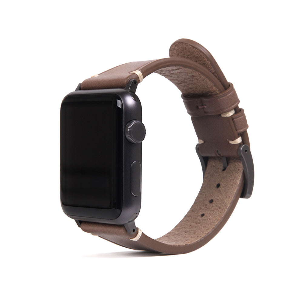 D7 Italian Buttero Leather Strap for Apple Watch 1to5 38/40mm Beige