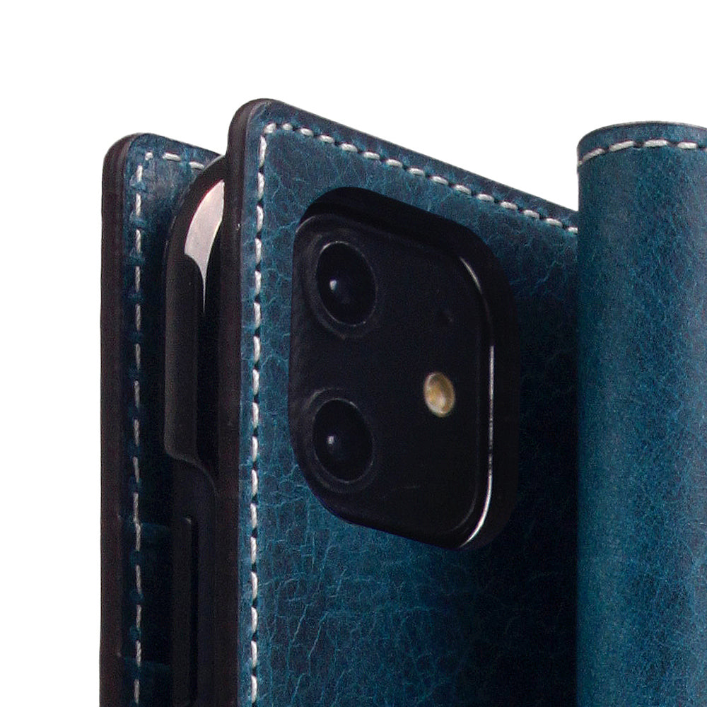 D7 Italian Wax Leather Case for iPhone 11 Blue