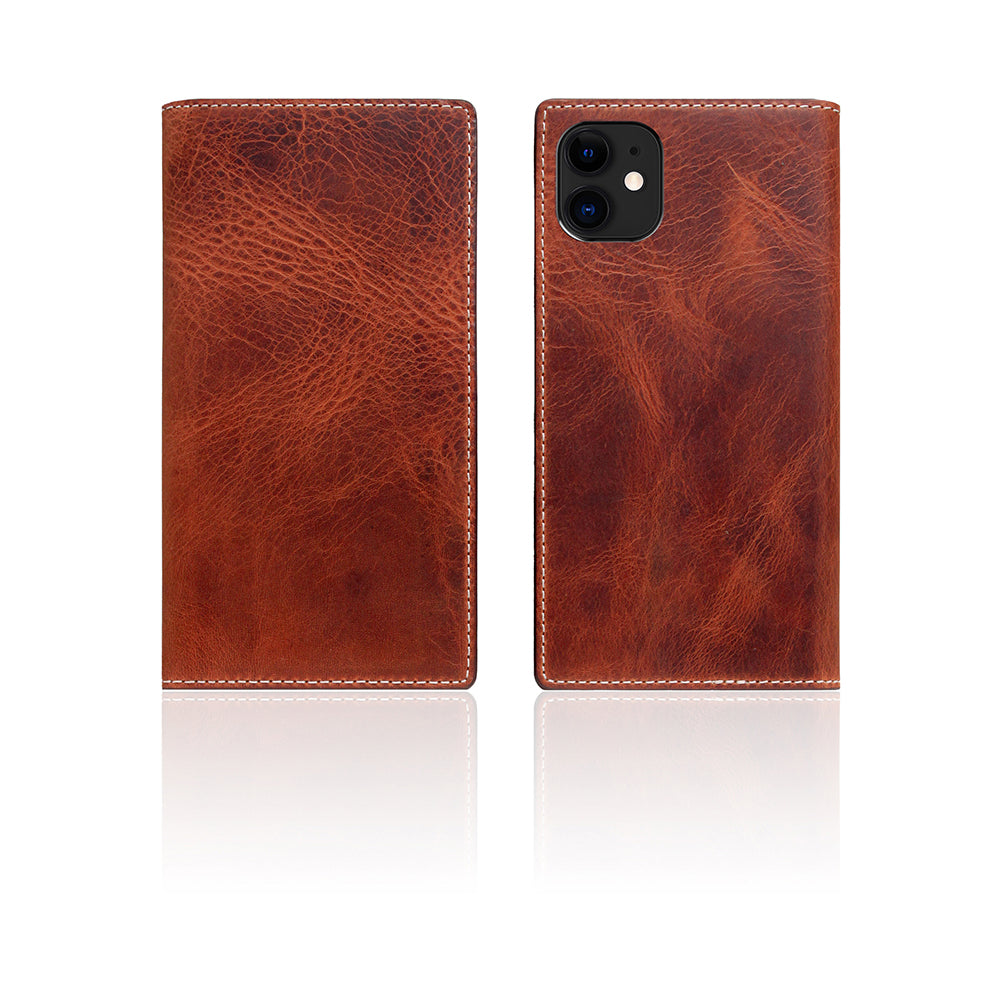 D7 Italian Wax Leather Case for iPhone 11 Brown