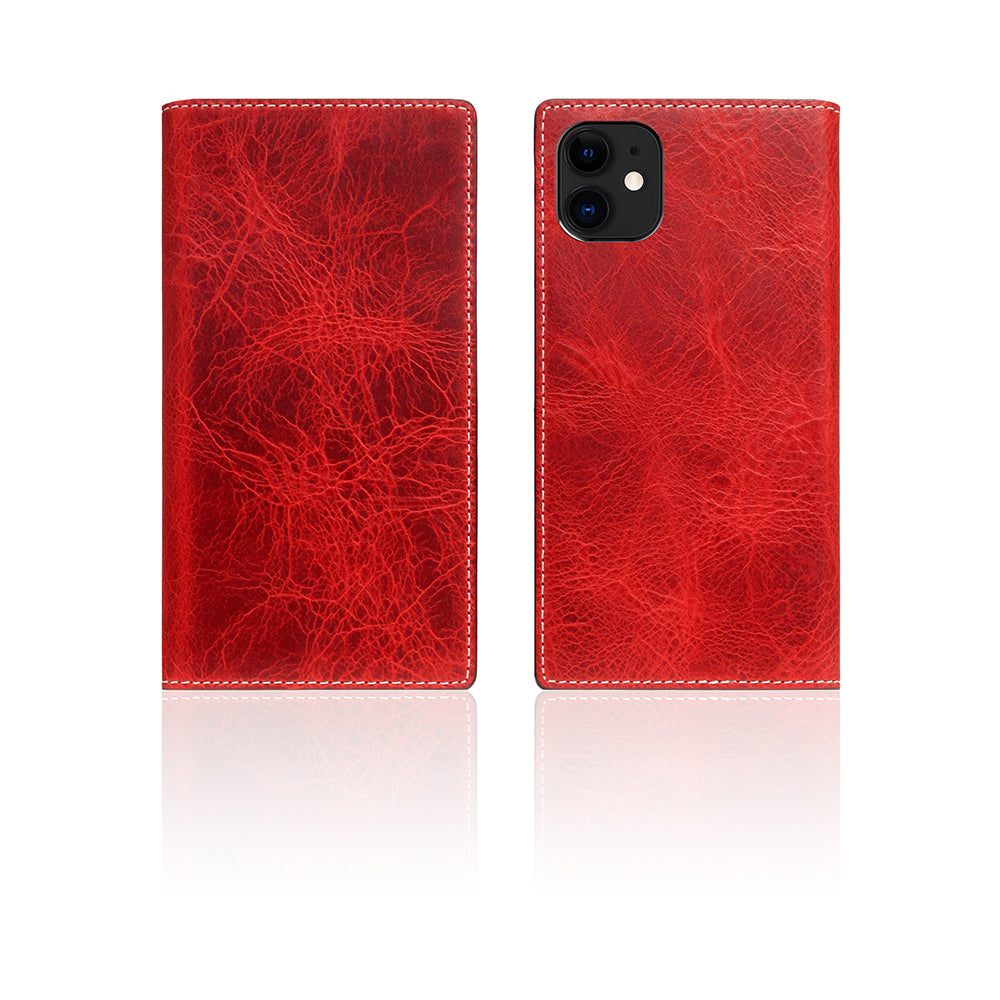 D7 Italian Wax Leather Case for iPhone 11 Red