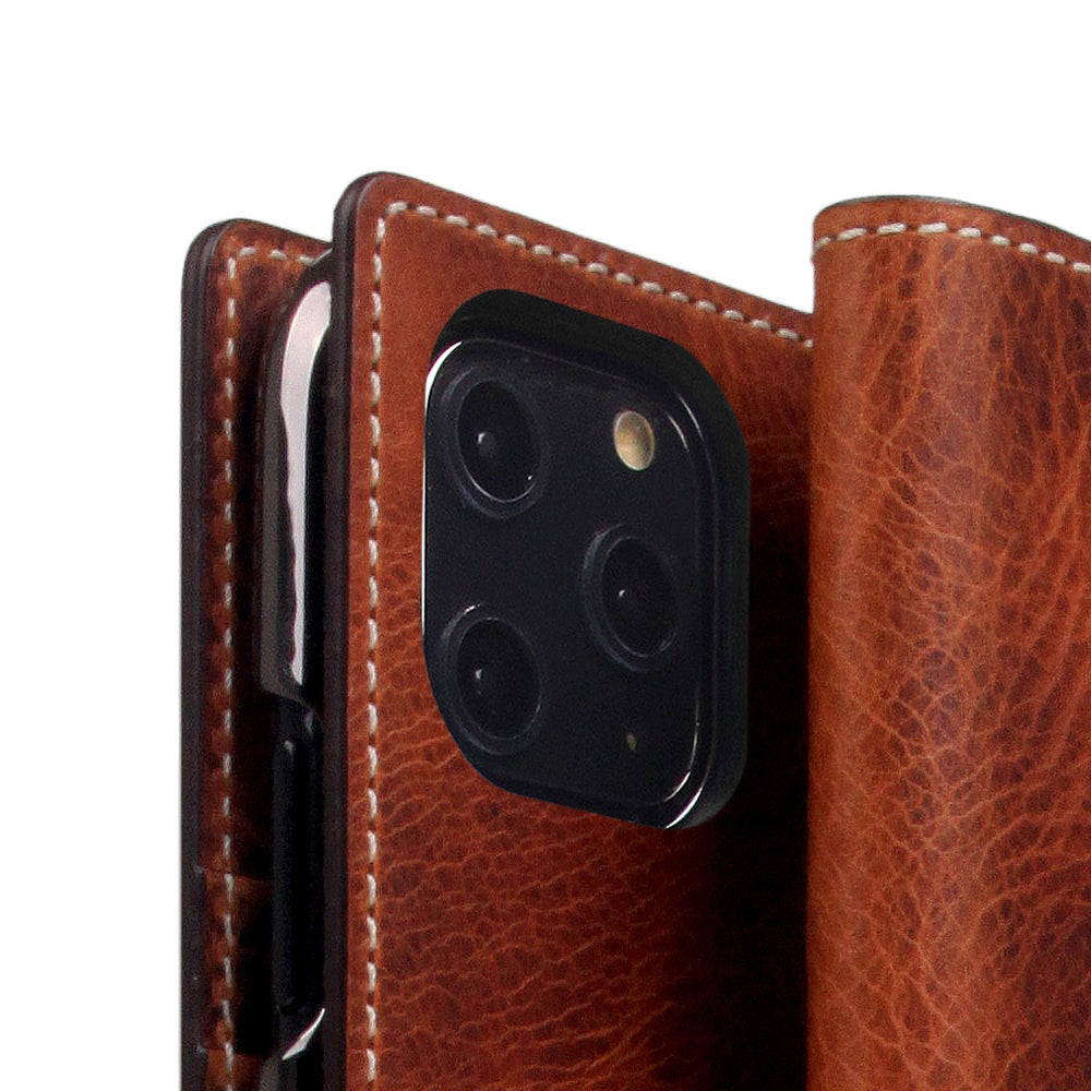 D7 Italian Wax Leather Case for iPhone 11 Pro Brown