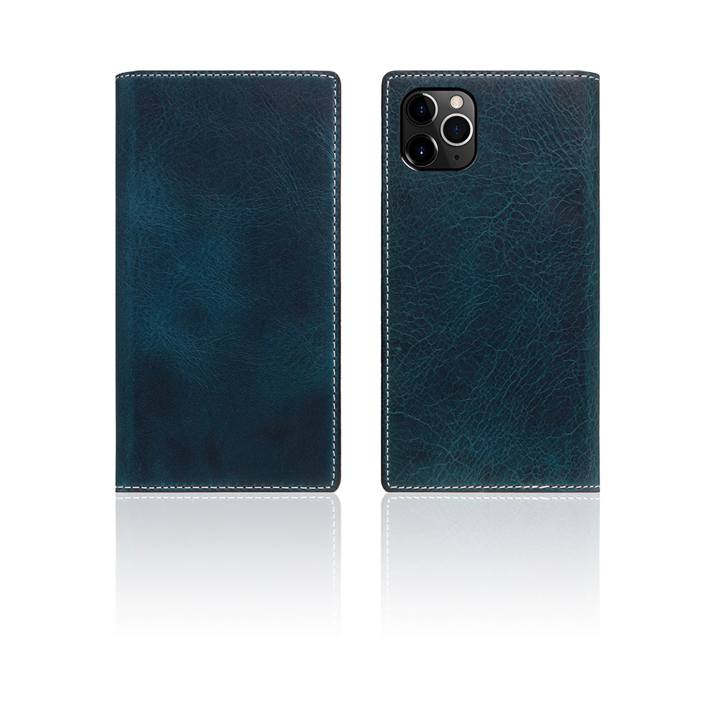 D7 Italian Wax Leather Case for iPhone 11 Pro Blue
