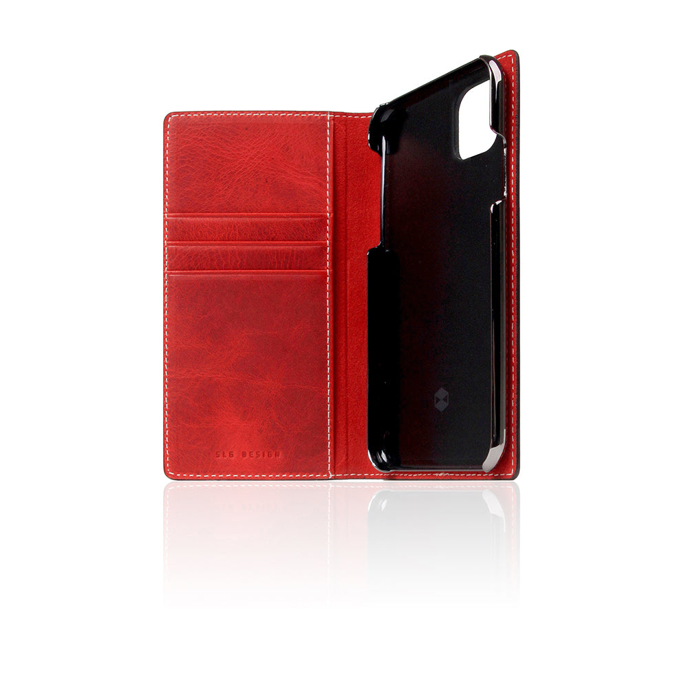 D7 Italian Wax Leather Case for iPhone 11 Pro Red
