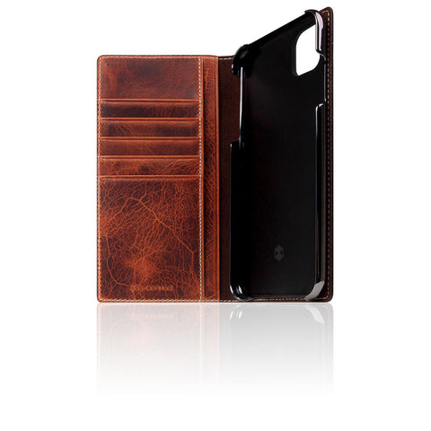 D7 Italian Wax Leather Case for iPhone 11 Pro Max Brown