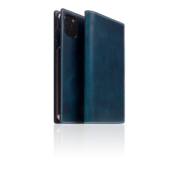 D7 Italian Wax Leather Case for iPhone 11 Pro Max Blue