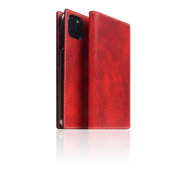 D7 Italian Wax Leather Case for iPhone 11 Pro Max Red
