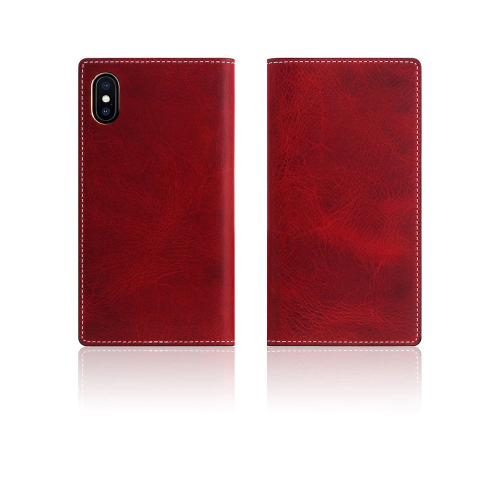 D7 Italian Wax Leather Case for iPhone X / XS Red