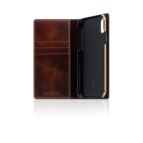 D7 Italian Wax Leather Case for iPhone X Brown