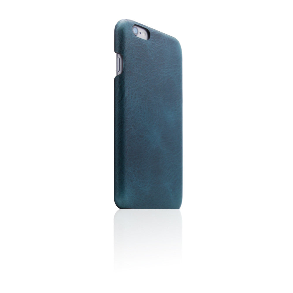 D7 Italian Wax Leather Back Case for iPhone 6/6s Blue