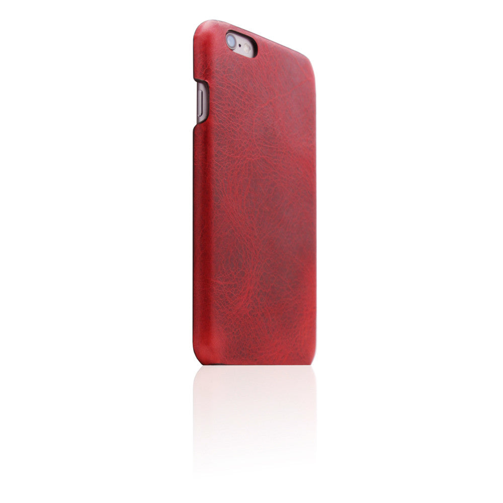 D7 Italian Wax Leather Back Case for iPhone 6/6s Plus Red