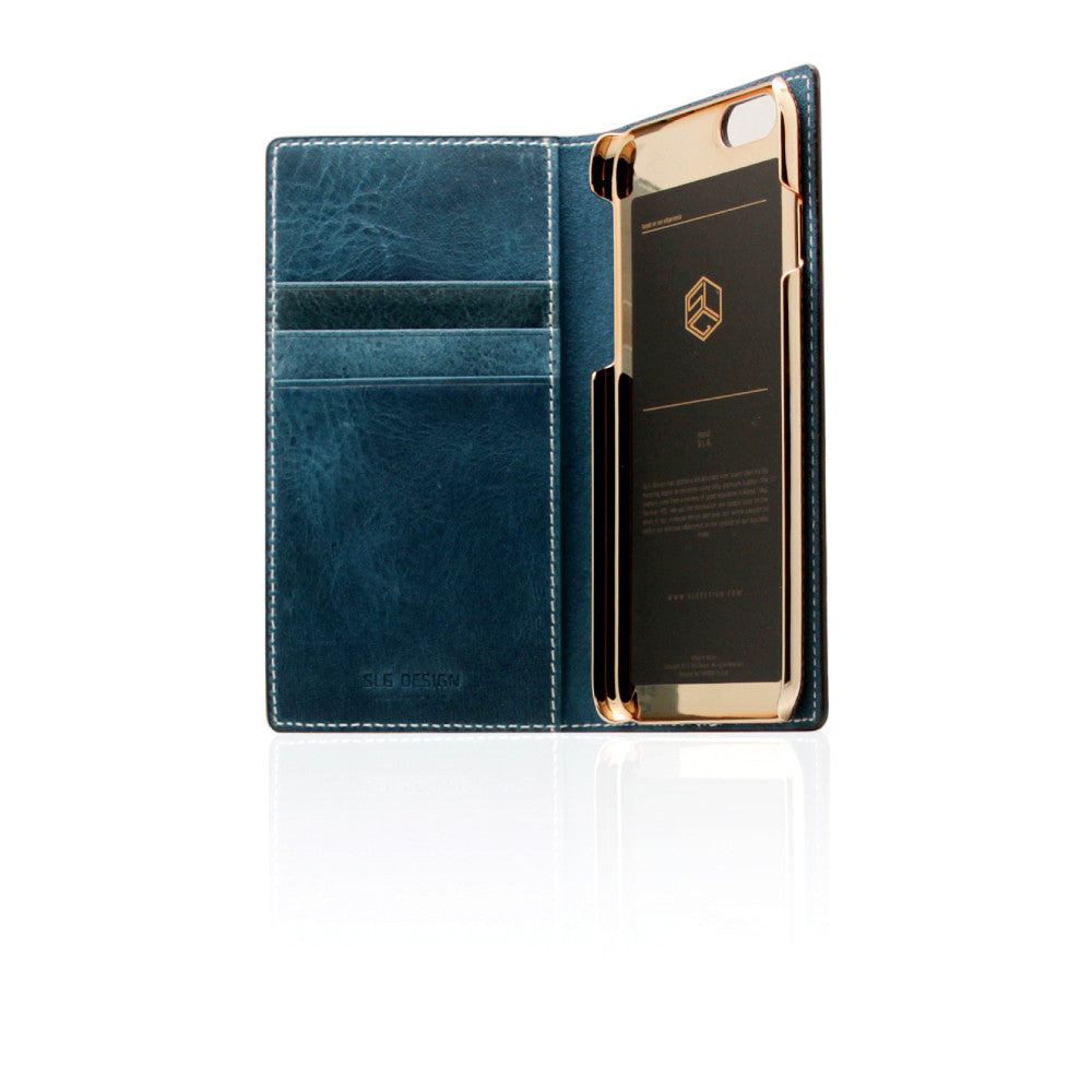 D7 Italian Wax Leather Case for iPhone 6/6s Blue