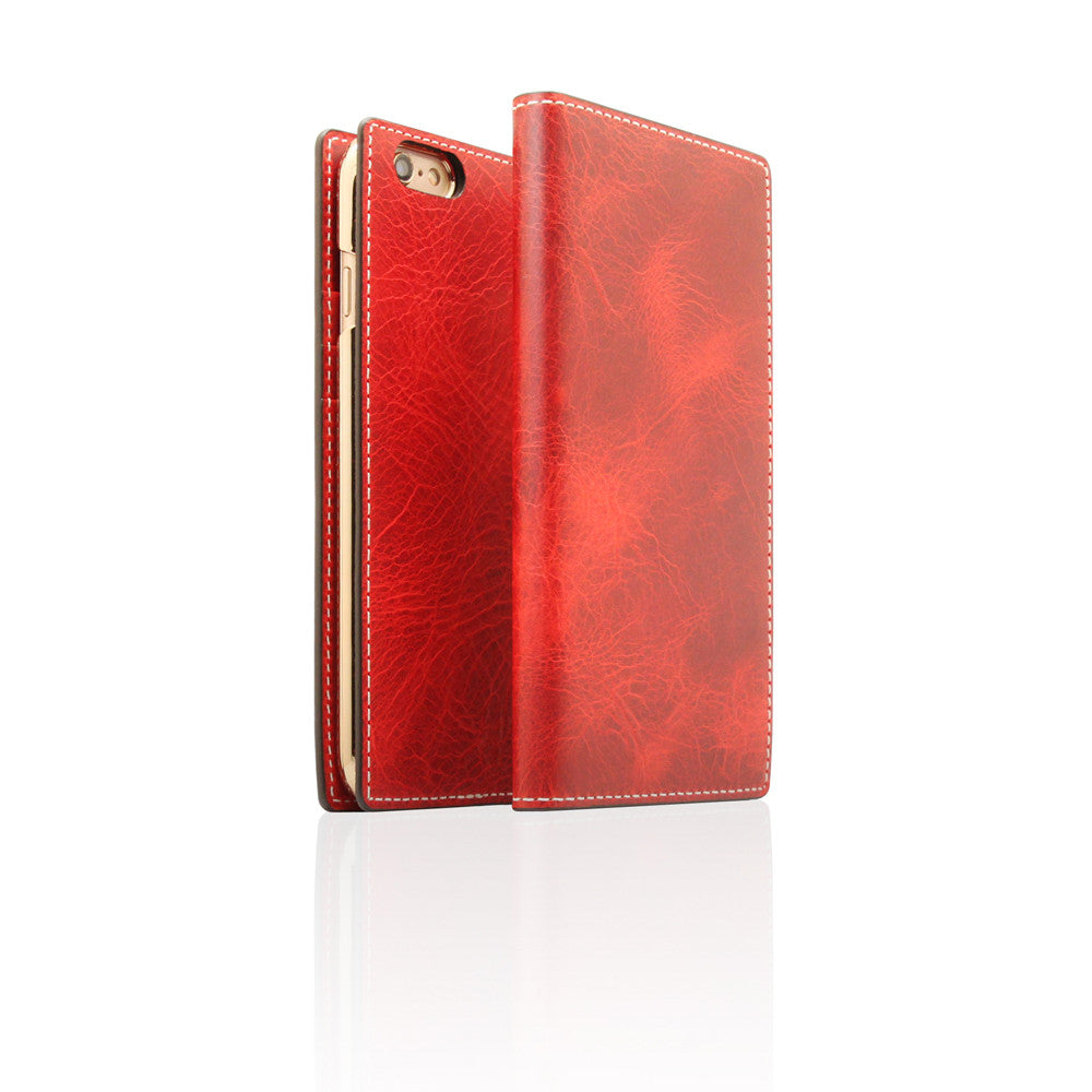 D7 Italian Wax Leather Case for iPhone 6/6s Red