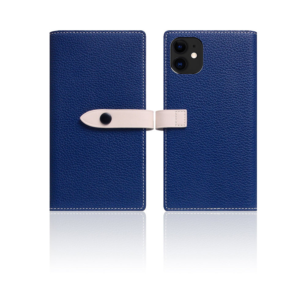 D8 Full Grain Leather Edition Case for iPhone 11 Navy Blue