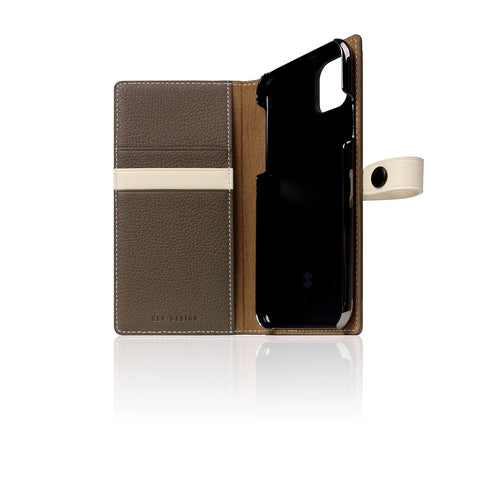 D8 Full Grain Leather Edition Case for iPhone 11 Pro Etoffe Cream