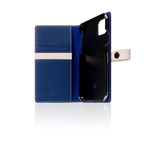 D8 Full Grain Leather Edition Case for iPhone 11 Pro Navy Blue