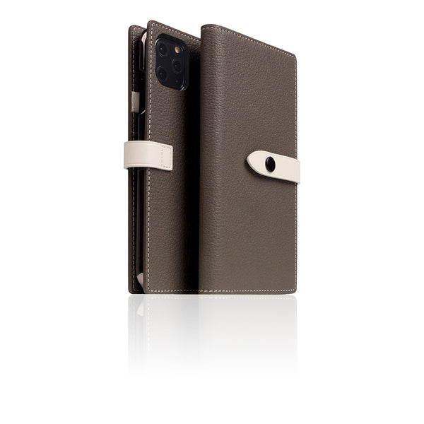 D8 Full Grain Leather Edition Case for iPhone 11 Pro Max Etoffe Cream