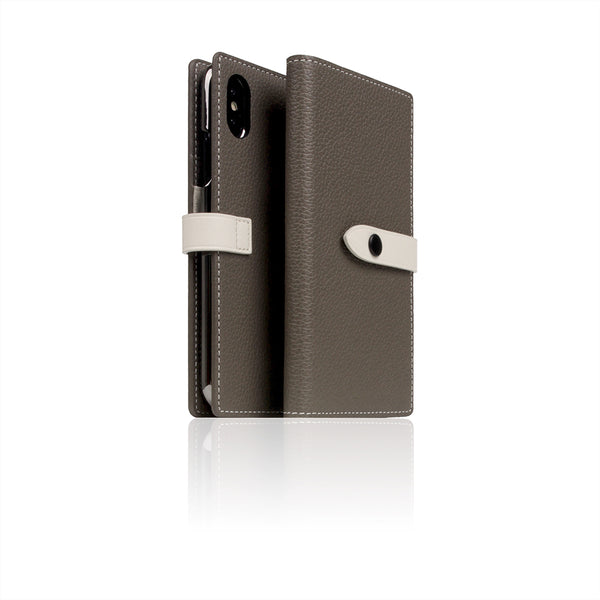D8 Full Grain Leather Edition Case for iPhone X / XS Etoff Cream