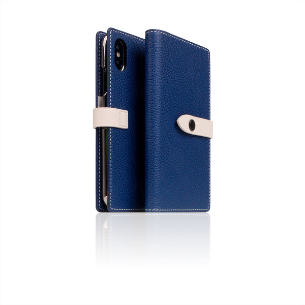 D8 Full Grain Leather Edition Case for iPhone X / XS Navy Blue