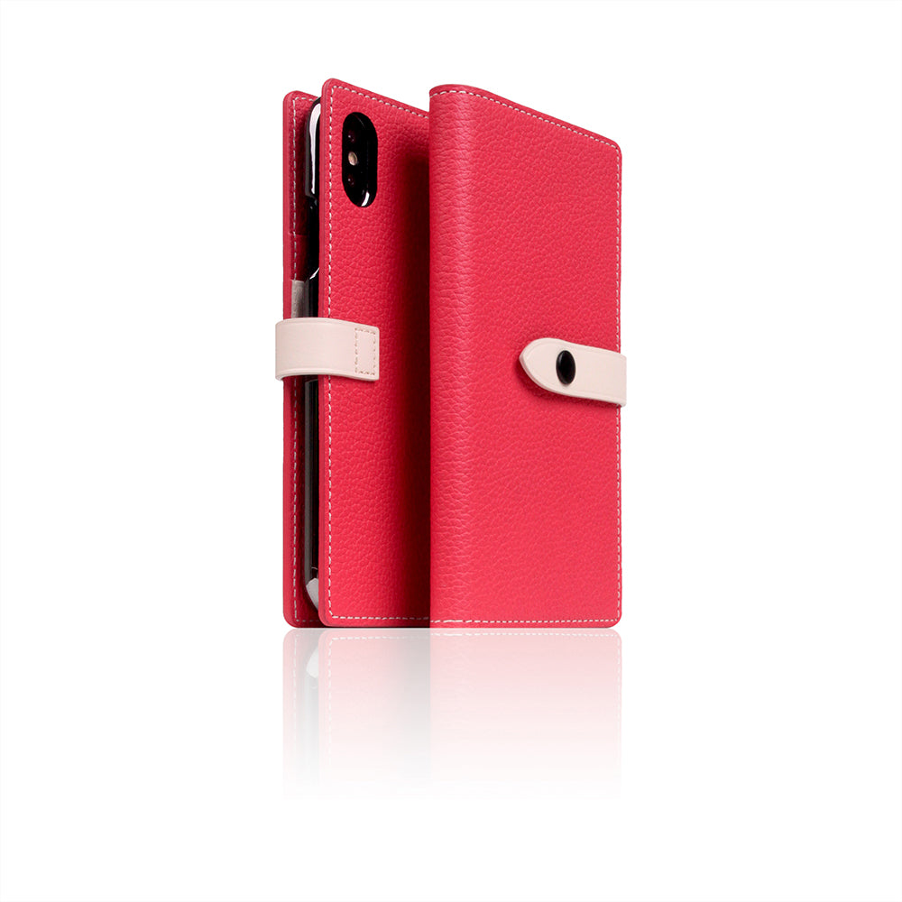 D8 Full Grain Leather Edition Case for iPhone X / XS Pink Rose