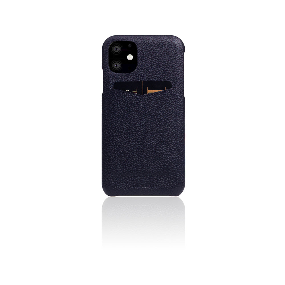 D8 Full Grain Leather Back Case for iPhone 11 Black Blue