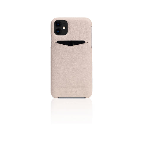 D8 Full Grain Leather Back Case for iPhone 11 Light Cream