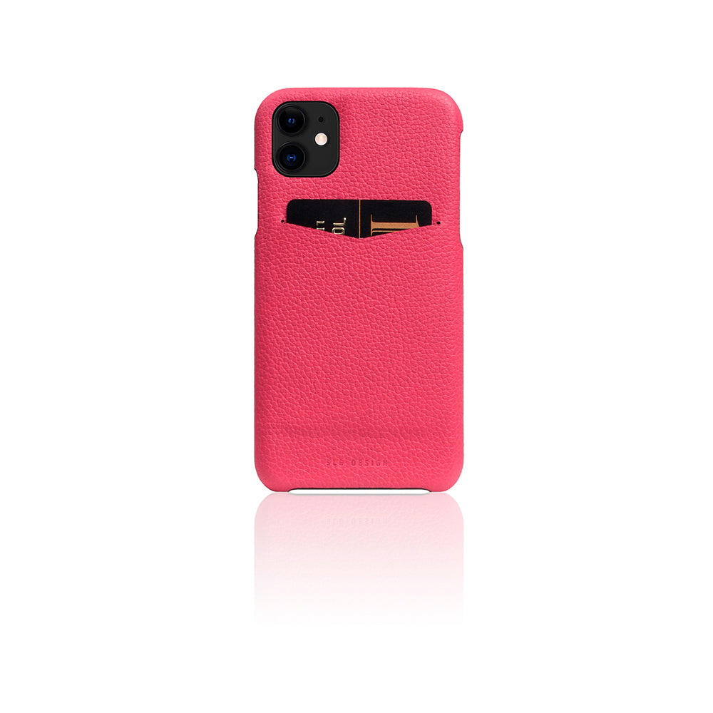 D8 Full Grain Leather Back Case for iPhone 11 Pink Rose
