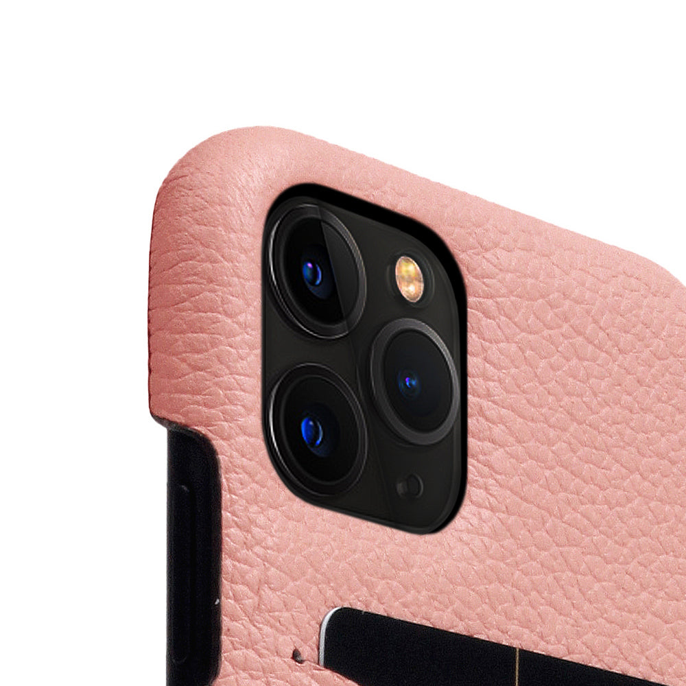 D8 Full Grain Leather Back Case for iPhone 11 Pro Light Rose