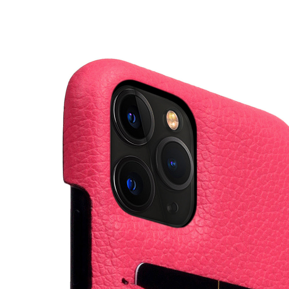 D8 Full Grain Leather Back Case for iPhone 11 Pro Pink Rose