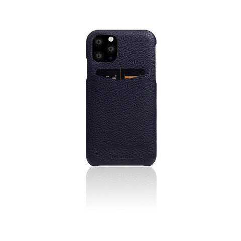 D8 Full Grain Leather Back Case for iPhone 11 Pro Black Blue