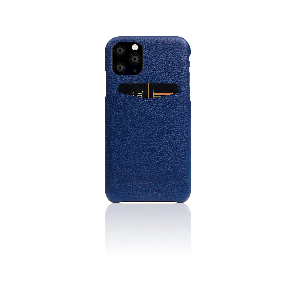 D8 Full Grain Leather Back Case for iPhone 11 Pro Navy Blue