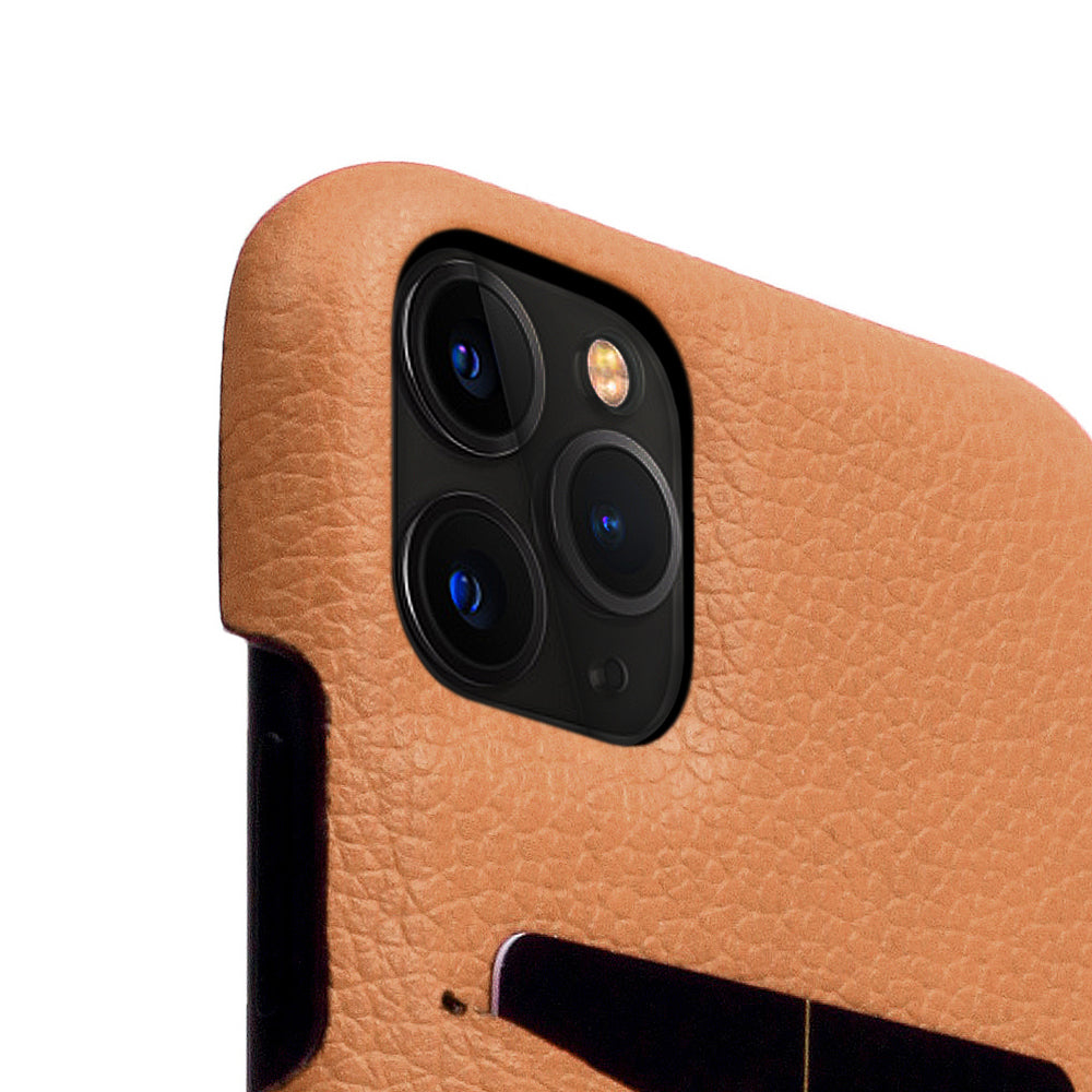 D8 Full Grain Leather Back Case for iPhone 11 Pro Max Caramel Cream