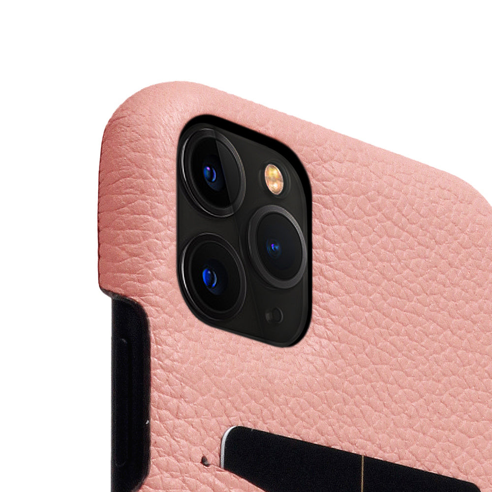 D8 Full Grain Leather Back Case for iPhone 11 Pro Max Light Rose