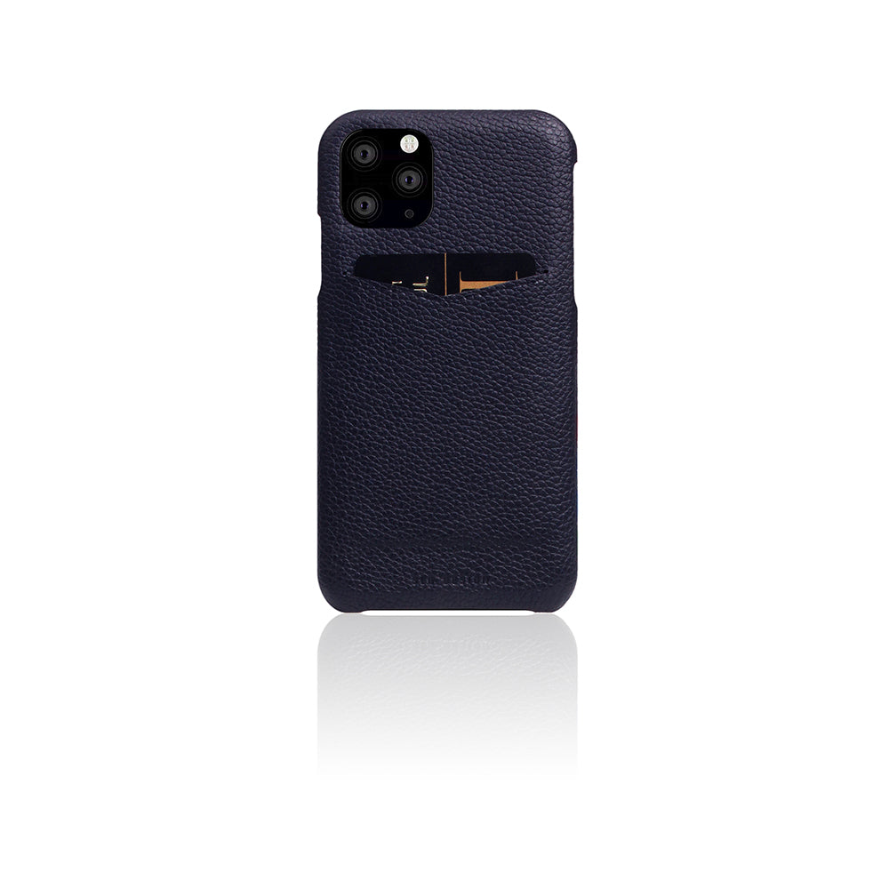 D8 Full Grain Leather Back Case for iPhone 11 Pro Max Black Blue