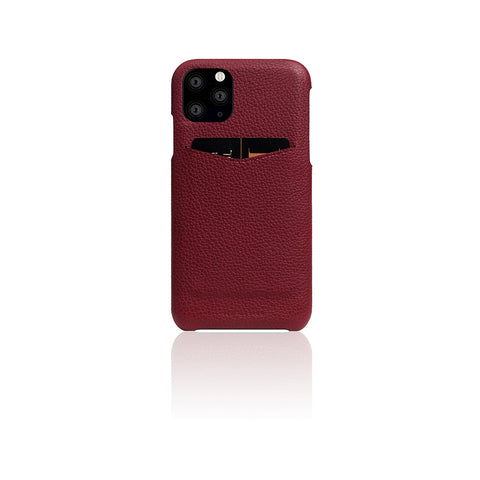 D8 Full Grain Leather Back Case for iPhone 11 Pro Max Burgundy Rose