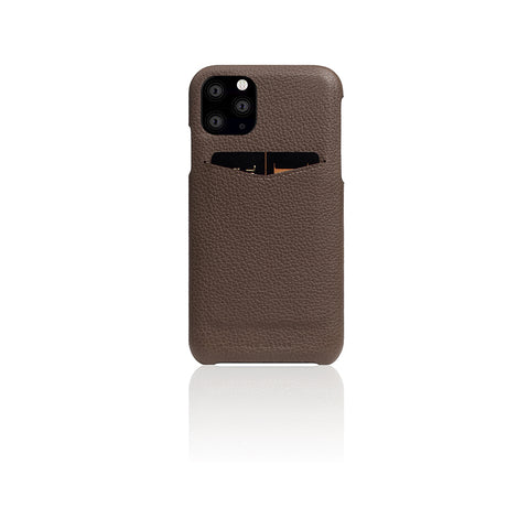 D8 Full Grain Leather Back Case for iPhone 11 Pro Max Etoffe Cream