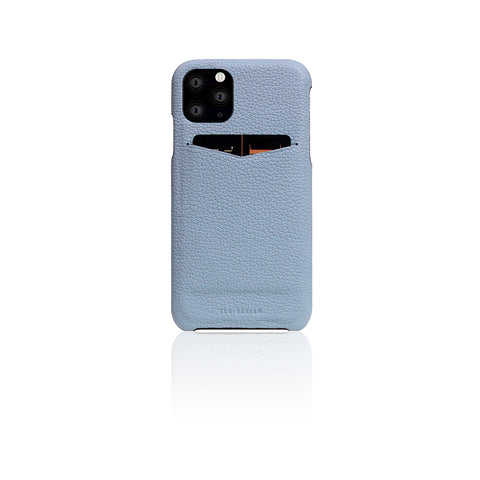 D8 Full Grain Leather Back Case for iPhone 11 Pro Max Powder Blue