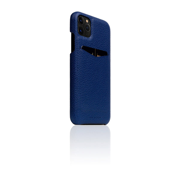 D8 Full Grain Leather Back Case for iPhone 11 Pro Max Navy Blue