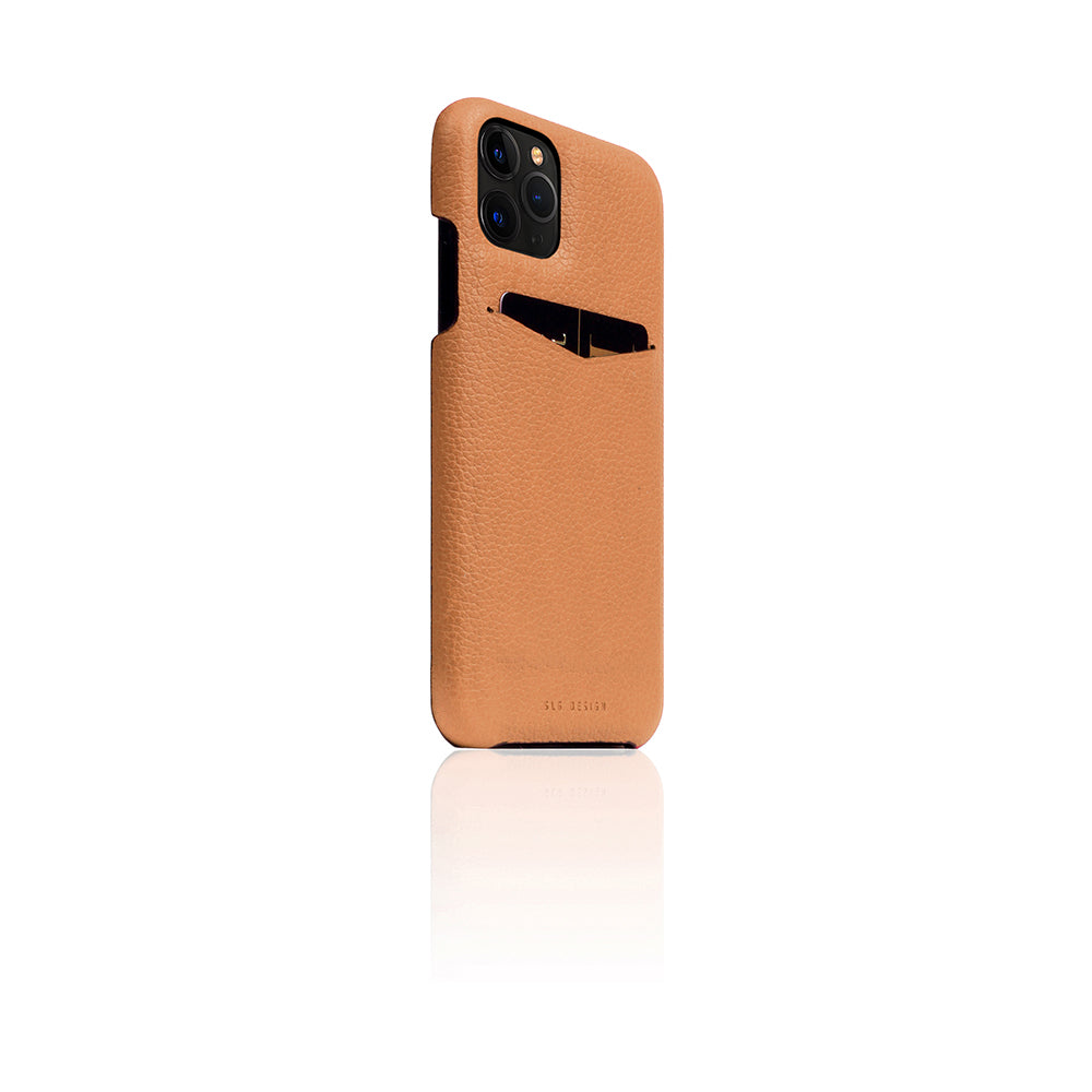 D8 Full Grain Leather Back Case for iPhone 11 Pro Caramel Cream