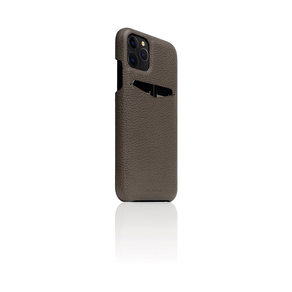 D8 Full Grain Leather Back Case for iPhone 11 Pro Etoffe Cream