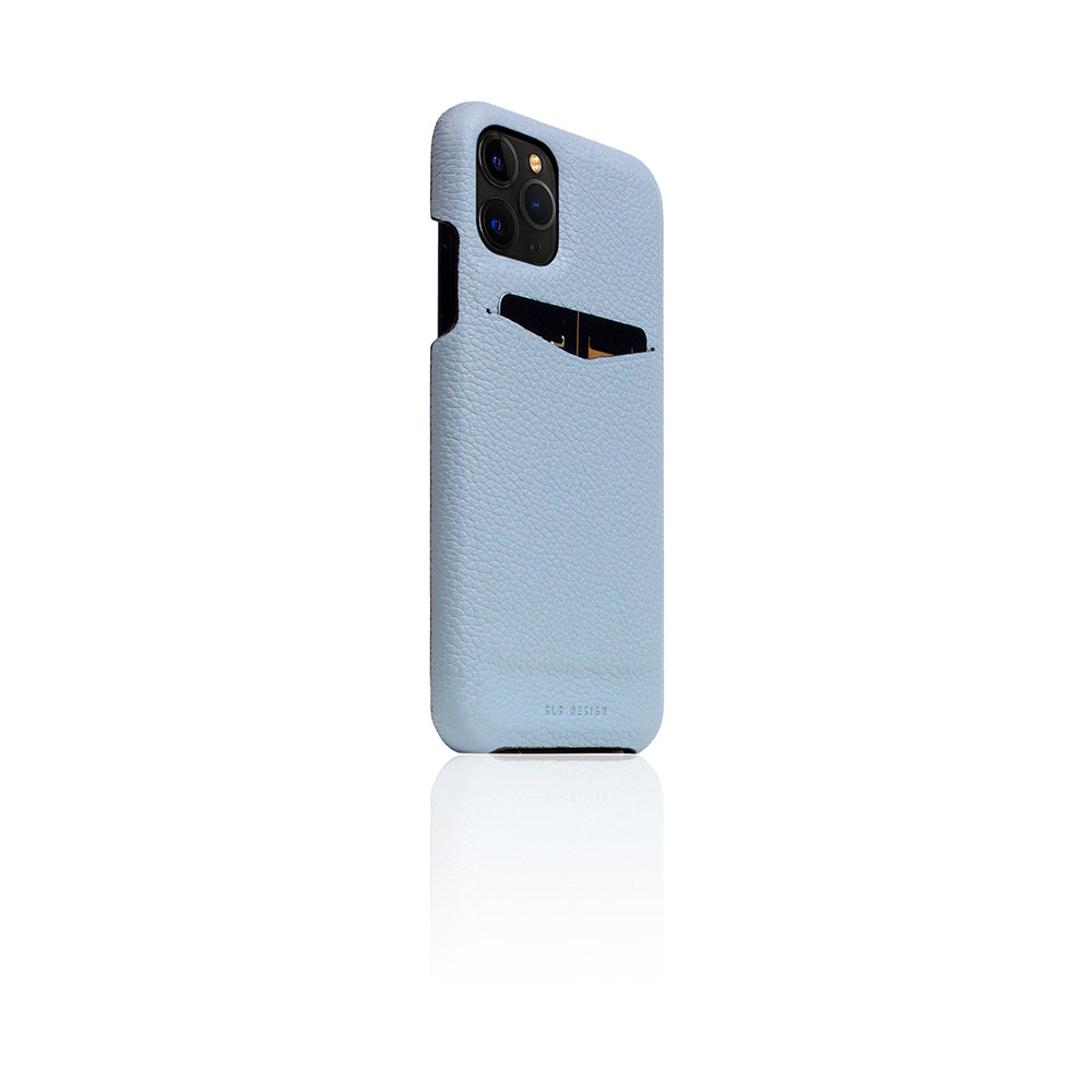 D8 Full Grain Leather Back Case for iPhone 11 Pro Powder Blue