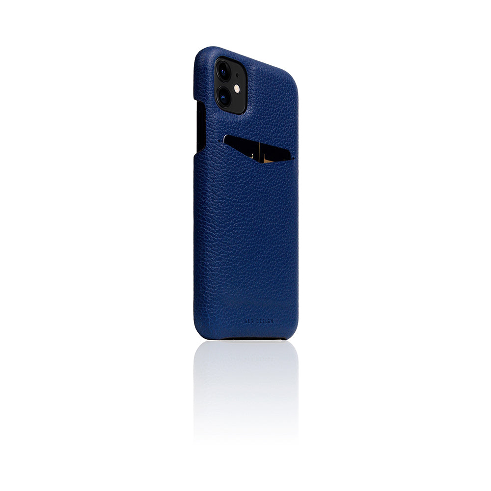 D8 Full Grain Leather Back Case for iPhone 11 Navy Blue