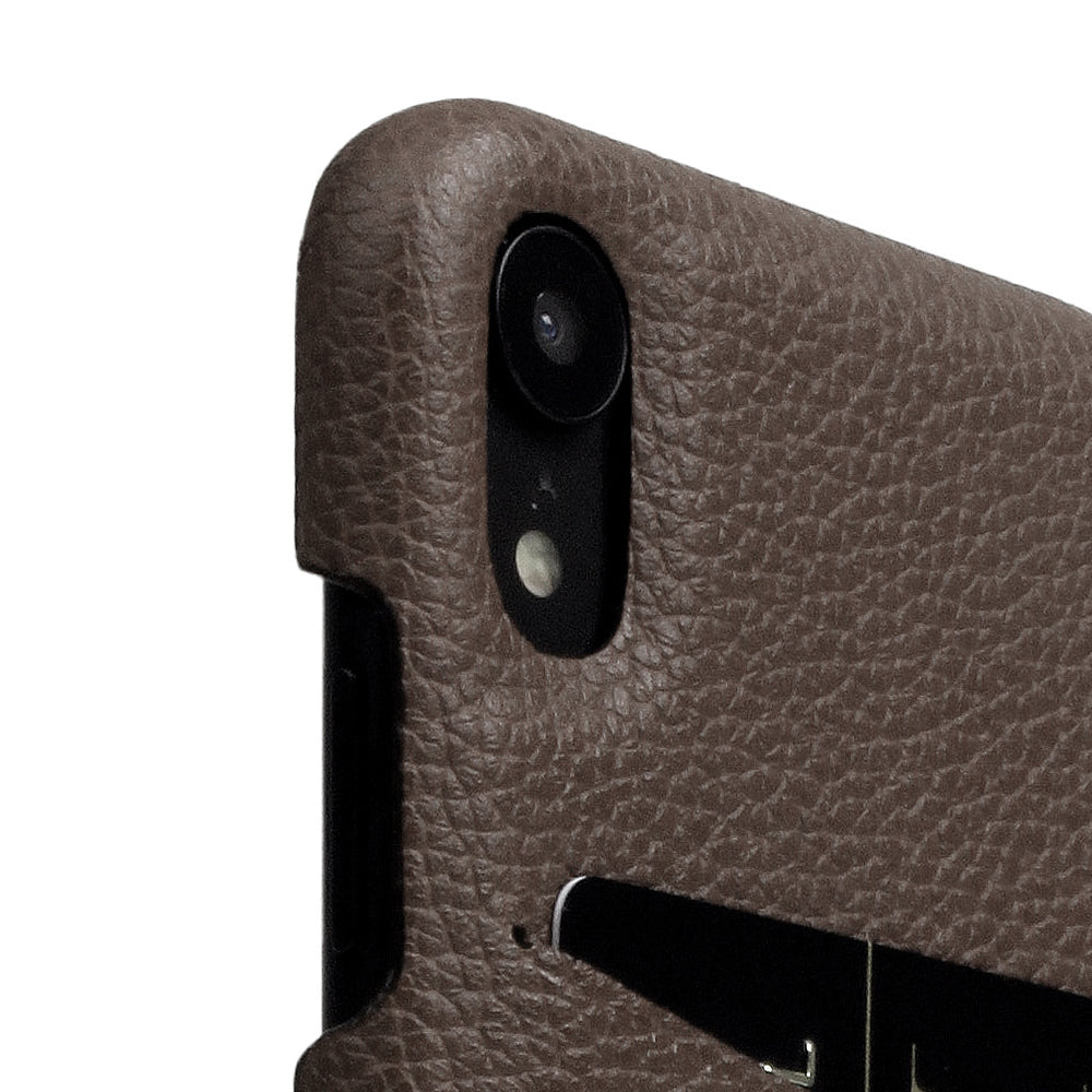 D8 Full Grain Leather Back Case for iPhone XR Etoff Cream