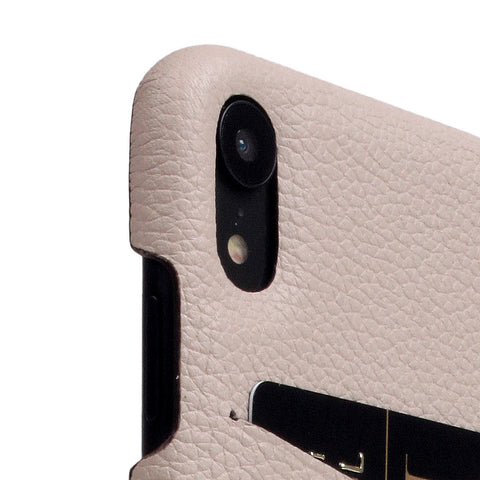 D8 Full Grain Leather Back Case for iPhone XR Light Cream
