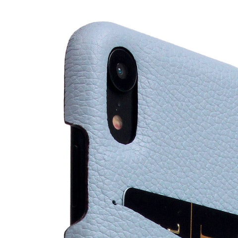 D8 Full Grain Leather Back Case for iPhone XR Powder Blue