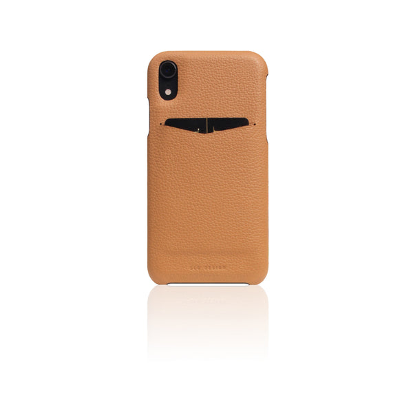 D8 Full Grain Leather Back Case for iPhone XR Caramel Cream