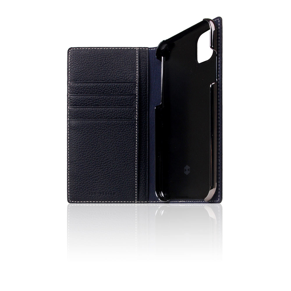 D8 Full Grain Leather Case for iPhone 11 Black Blue