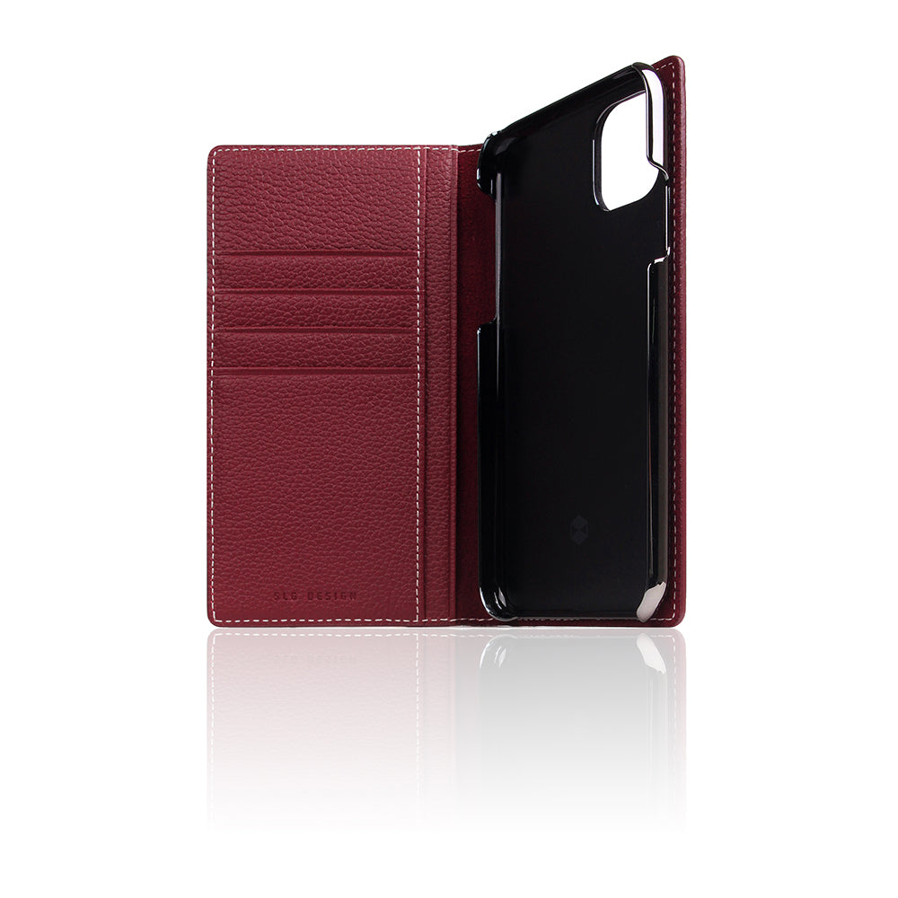 D8 Full Grain Leather Case for iPhone 11 Burgundy Rose