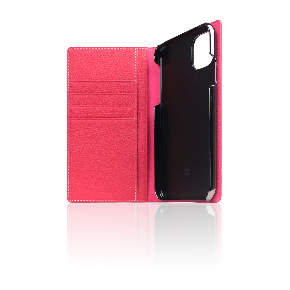 D8 Full Grain Leather Case for iPhone 11 Pink Rose