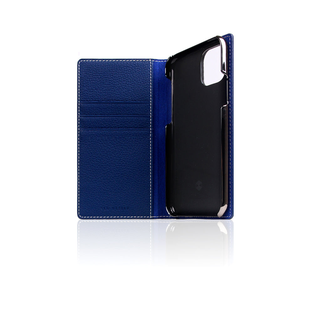 D8 Full Grain Leather Case for iPhone 11 Pro Navy Blue
