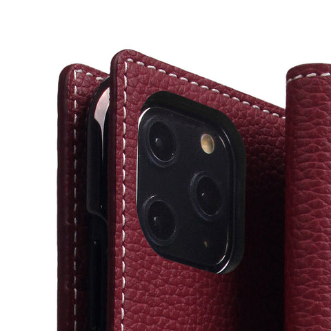 D8 Full Grain Leather Case for iPhone 11 Pro Max Burgundy Rose